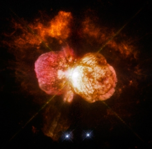 Eta Carinae, one of the best candidates for going supernova in our lifetimes - assuming we understand the physics of the system, which we don't. [Credit:  NASA, ESA, and the Hubble SM4 ERO Team]