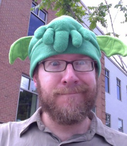 The more money we raise to help us go to GeekGirlCon, the more places I will go wearing my Cthulhu hat.