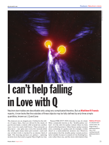 The first page of my latest print article in Physics World. Unfortunately, there doesn't seem to be an online version.