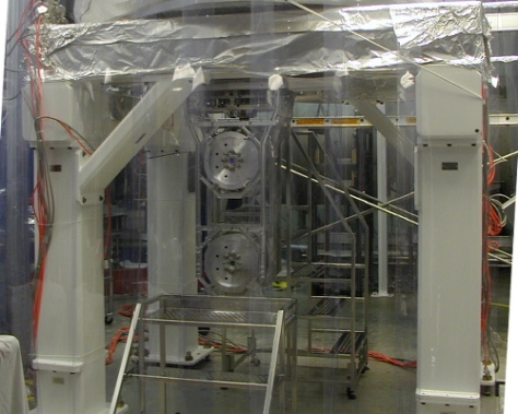 Part of one of the mirror assemblies that make up the Laser Interferometer Gravitational-wave Observatory (LIGO) at Livingston, Louisiana. I visited the site in 2012 during the upgrade of the lab to Advanced LIGO. [Credit: moi]