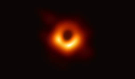 the black hole at the center of the M87 galaxy, as seen by the Event Horizon Telescope